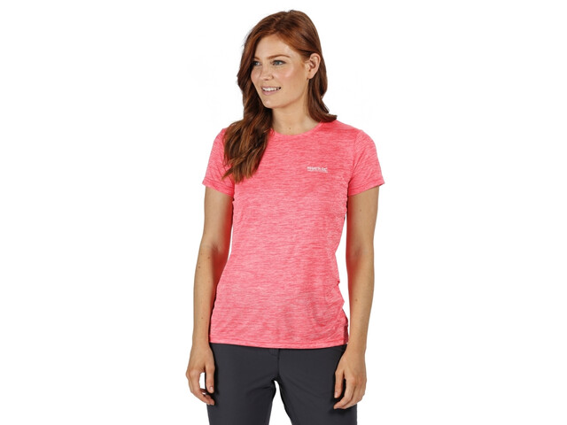Regatta Fingal V Camiseta Mujer, neon pink marl/plain